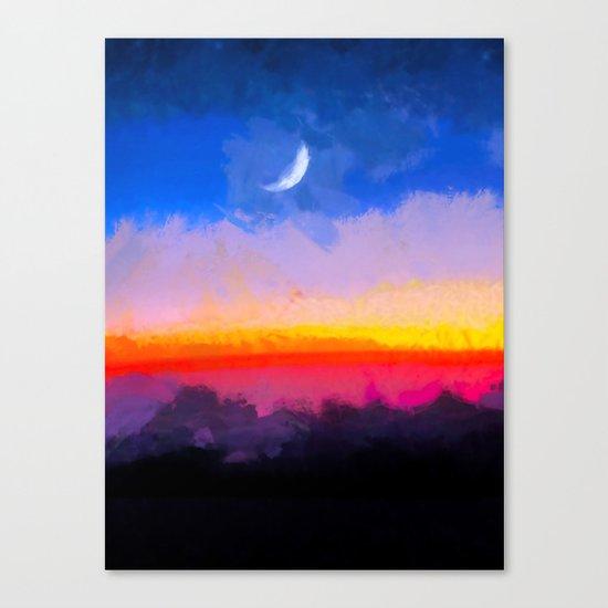 Sunrise - Leaving the Moon Canvas Print