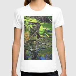 A Green Heron in Corkscrew-vertical T-shirt