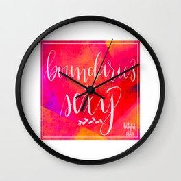 Boundaries are Sexy Wall Clock
