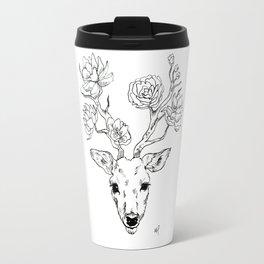 Floral deer antlers Travel Mug