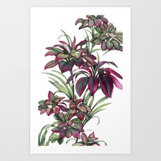 Tropical Leaves Sing Art Print