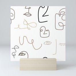 Abstract Face: Nudes Mini Art Print