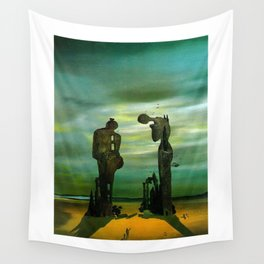 Archeological Reminiscence of Millet's Angelus - Salvador Dali Wall Tapestry