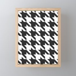Classic Houndstooth Framed Mini Art Print