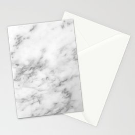 Minimal Gray Marble Stationery Cards
