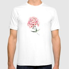 Watercolor flower phlox White Mens Fitted Tee SMALL