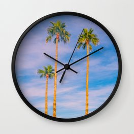 Palm Trees, Palm Tree, Desert, California, Summer, Landscape Photography, West Coast, Cali, Beach Wall Clock