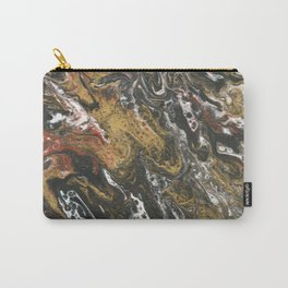 Golden Seas, abstract poured acrylic Carry-All Pouch