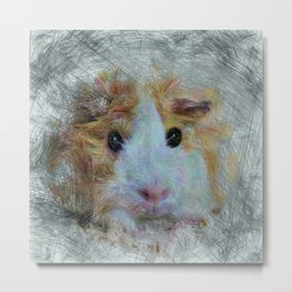 Artistic Animal Guinea Pig 3 Metal Print