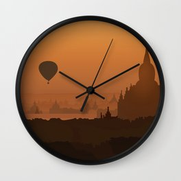 Plain Of Temples Wall Clock
