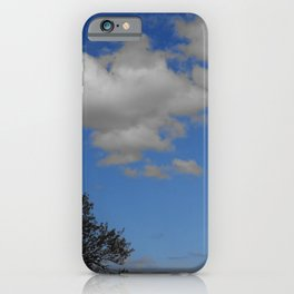White cloud dreaming and Blue Sky thinking in Zakynthos iPhone Case