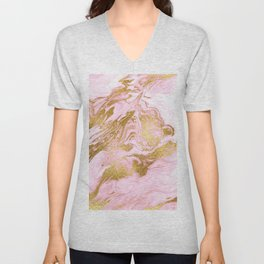 Rose Gold Mermaid Marble Unisex V-Neck