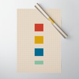four elements || tweed & primary colors Wrapping Paper