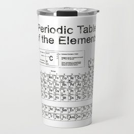 Periodic Table of Elements Travel Mug
