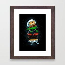 The Astronaut Burger Framed Art Print