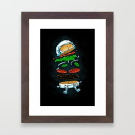 The Astronaut Burger Framed Art Print
