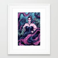 ursula Framed Art Prints featuring Ursula by Angela Rizza