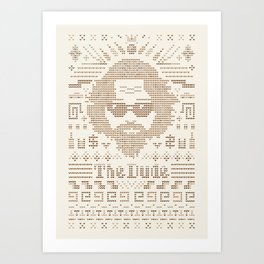 Knitted Dude Art Print