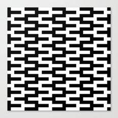 Black & White Zigzag Canvas Print