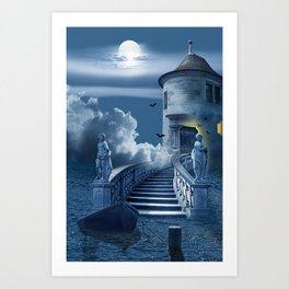 The Mysterious Castle In The Sea Art Print
