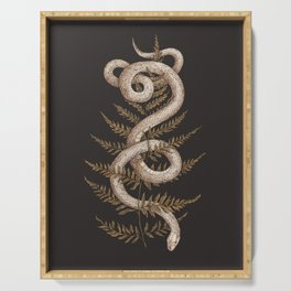 The Snake and Fern Serving Tray