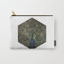Beautiful Peacock - Geometric Photography Carry-All Pouch