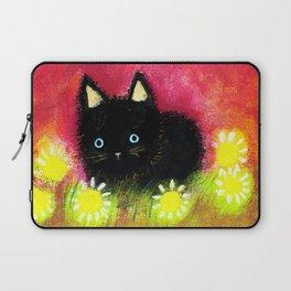 Black kitten Laptop Sleeve
