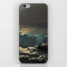 Moonlight, Wood Island Light by Winslow Homer, 1894 iPhone Skin