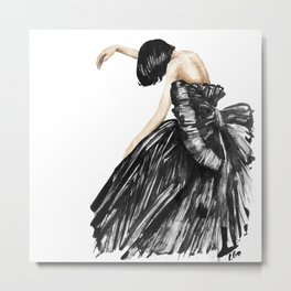 Sad Fashion / Emotional drawing Metal Print
