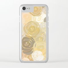 Pastel Roses Clear iPhone Case