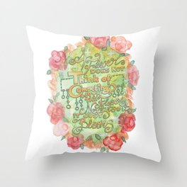Permission to blossom Throw Pillow