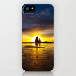 Sunset on Haystack VI iPhone Case