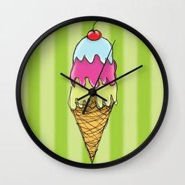 Triple Ice Cream Wall Clock