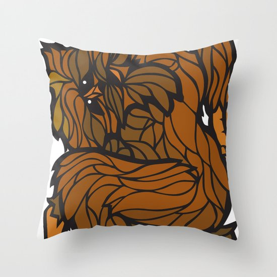 Squatch Throw Pillow