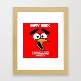 HappyBirds Framed Art Print