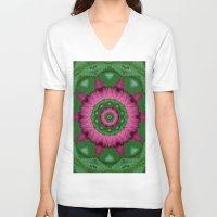 burgundy V-neck T-shirts featuring Burgundy by IowaShots