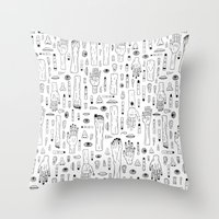 anatomy Throw Pillows featuring Anatomy by Frank Turner