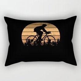 Cyclist Bike Cycling Gift Retro Funny Rectangular Pillow