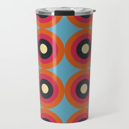 Lanai 16 - Colorful Classic Abstract Minimal Retro 70s Style Graphic Design Travel Mug