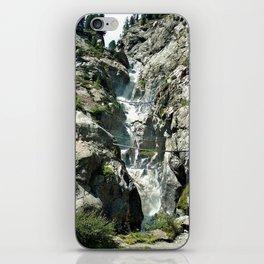 waterfall rope bridge kaunertal alps tyrol austria europe 1 iPhone Skin