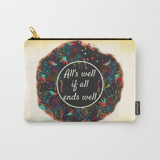 Shakespeare Alls Well if All Ends Well Carry-All Pouch