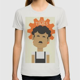 Charlie Chaplin, Modern Times, minimal movie poster, classic film, Charlot, Hollywood T-shirt