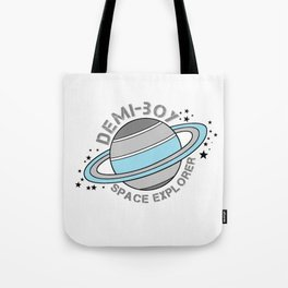 Demi-Boy Space Explorer Tote Bag