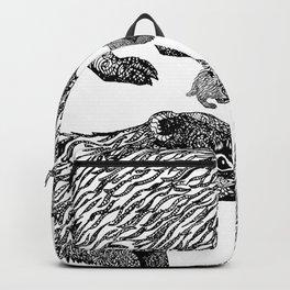 British Badger Zentangle Backpack