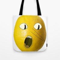 lemongrab Tote Bags featuring Lemongrab! by Al's Visions