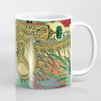 writer Mugs featuring The Writer by Theo Szczepanski