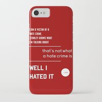 michael scott iPhone & iPod Cases featuring Michael Scott on Hate Crimes (The Office) by thebuccanear