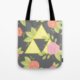 Garden of Power, Wisdom, and Courage Pattern in Grey Tote Bag