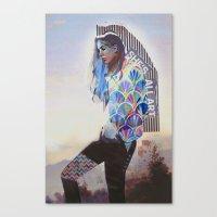 wanderlust Canvas Prints featuring Wanderlust by Jenessa Peterson