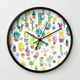 Happy Cactuses Wall Clock